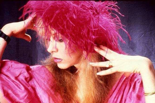 Stevie   ~ ☆♥❤♥☆ ~     stunning in deep pink  ~ love her elegant hands; photo taken on January 17th, 1986 by Herbert W. Worthington 111