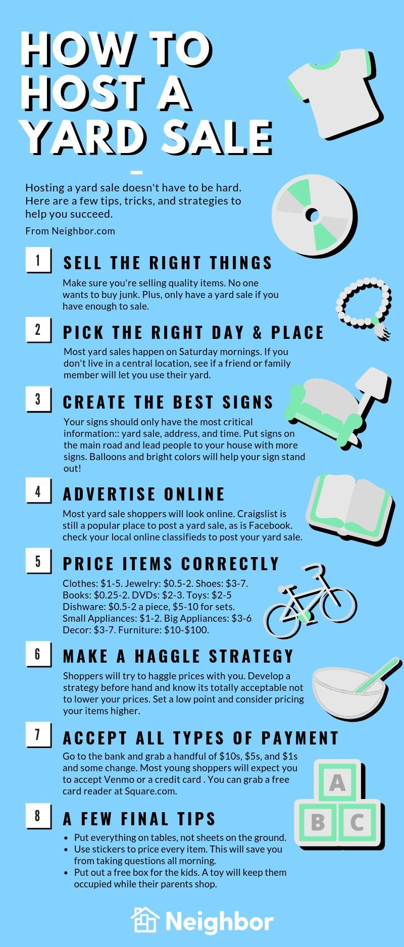 Yard Sales How to Host, Pricing, and Tips [Checklist