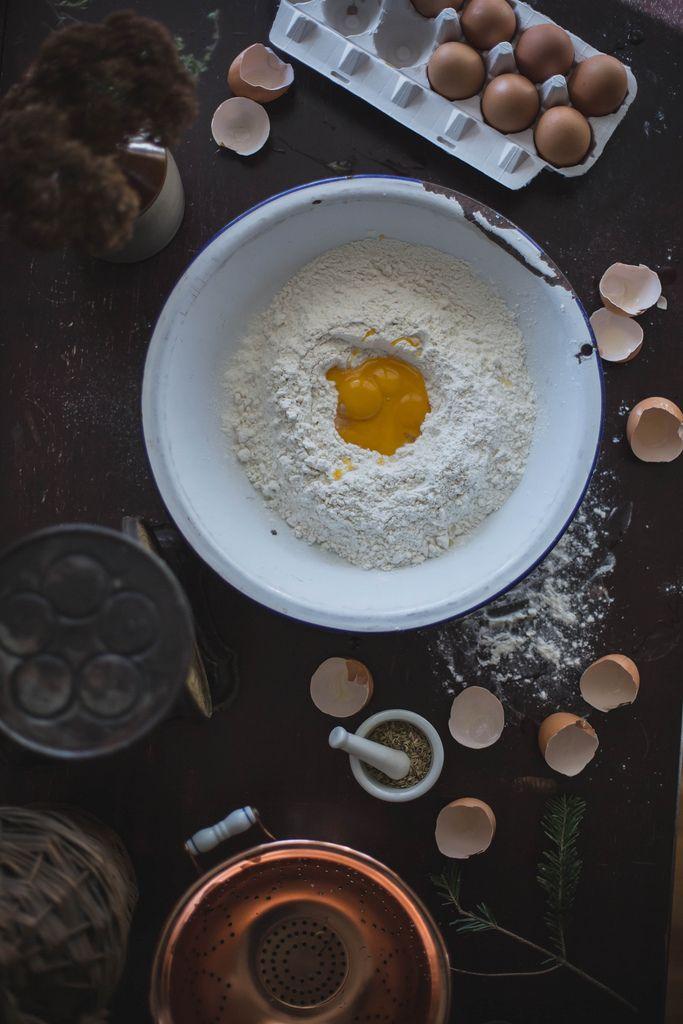 Local Milk | making fennel seed fresh pasta // celeraic & chevre fennel agnolotti + brown butter parsley pesto & shiitakes