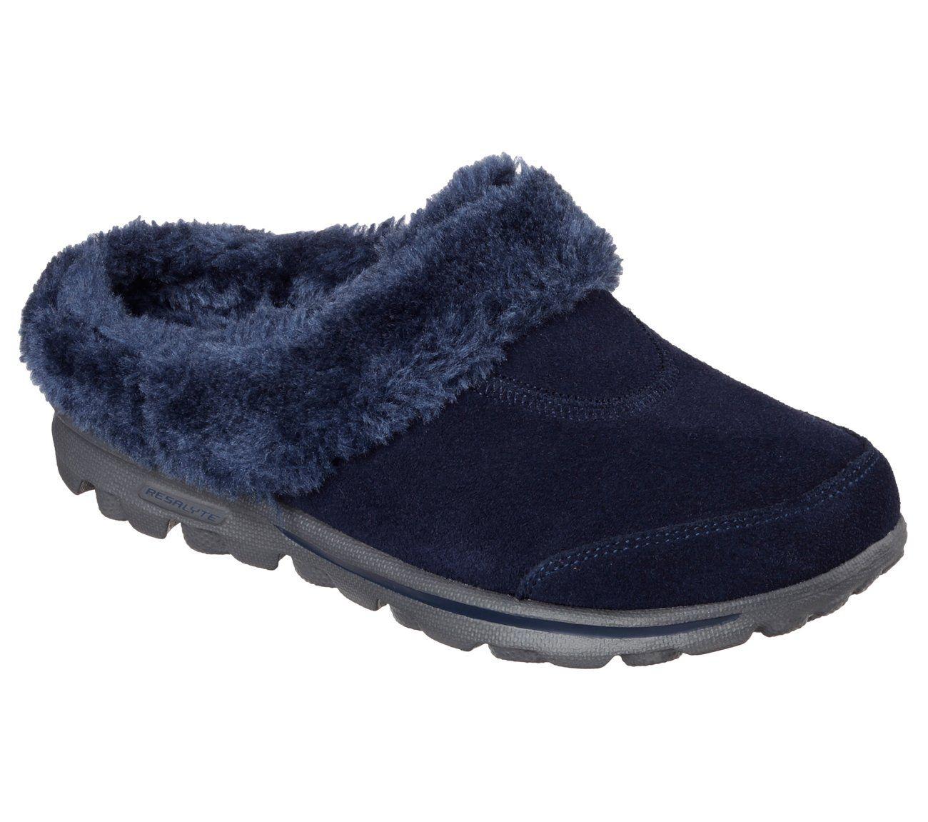 Skechers performance, Faux fur slippers