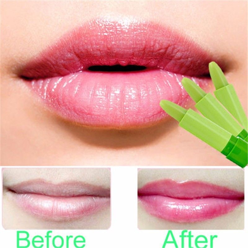 Aloe Vera Gel Moisturizing Jelly Lipstick Waterproof Temperature Color Changing Lip Care