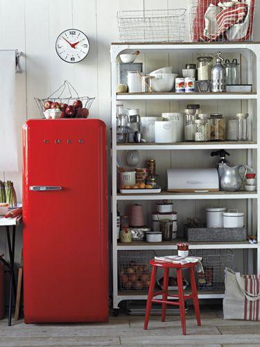 Make Your Kitchen Liances Retro Cool Red Fridge
