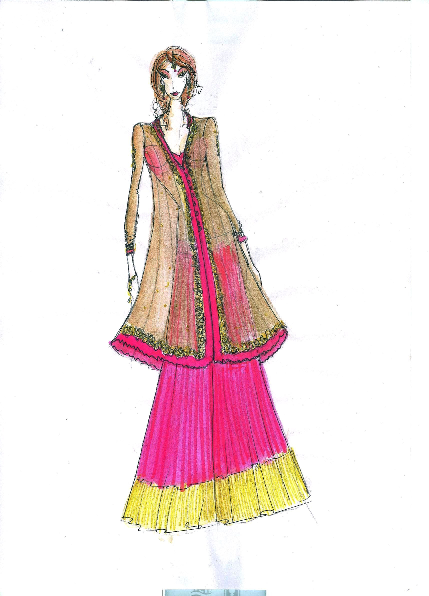 indian dress design sketches google search designs