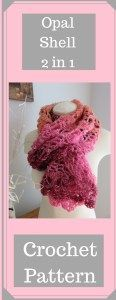 Opal Shell 2 in 1 Crochet Wrap  Scarf  Crochet