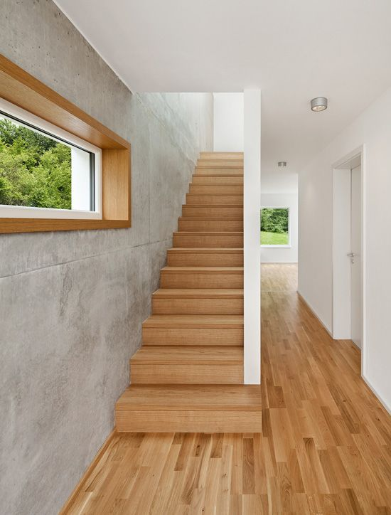 Beton und Holz Treppe Pinterest Staircases, Stairways and House