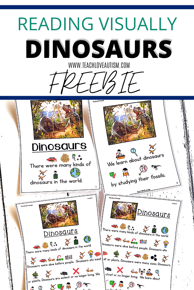 Reading Comprehension Freebie About Dinosaurs Teach Love Autism Special Education Reading Special Education Elementary Reading Comprehension [ 1102 x 735 Pixel ]