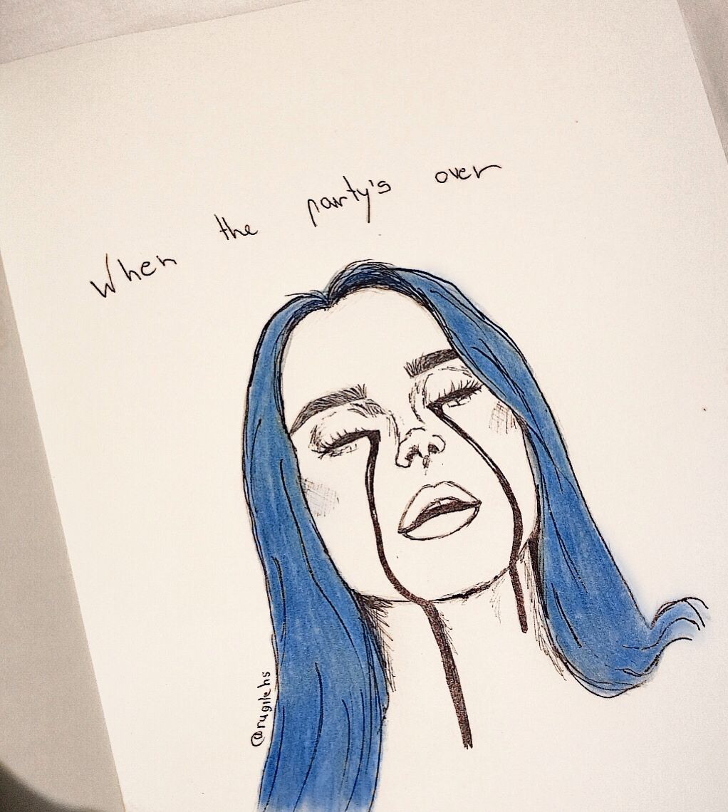 #billieeilish #billieeilishfanart #drawings #blue #whenthepartysover #quotes #billie #eilish #beautiful #love #girl