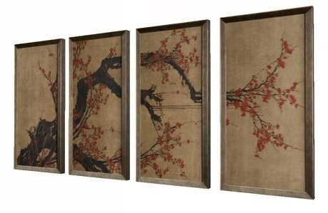 Japanese Wall Art 4 Pieces Fully Mod Japanese Wall Art Japanese Wall Wall Art