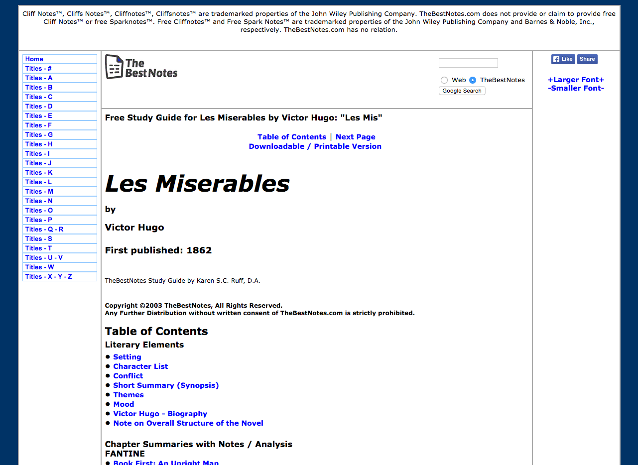An analysis of the character victor hugo in les miserables