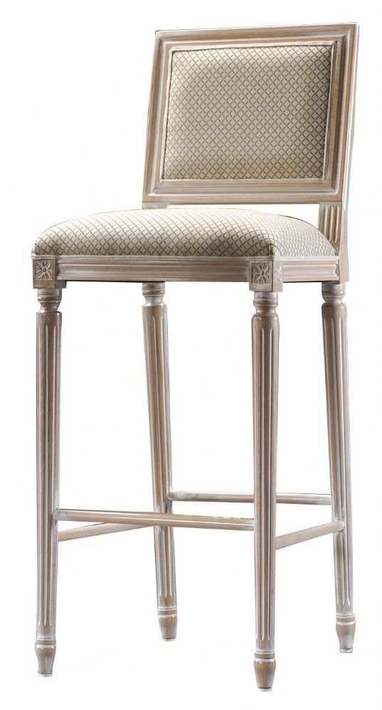 CLASSIC FRENCH LOUIS STYLE UPHOLSTERED SEAT SQUARE BACK BAR STOOL - FUR-LOUISQ Cost pound 435 00 plus 0 8m fabric The reign of Louis XV in France
