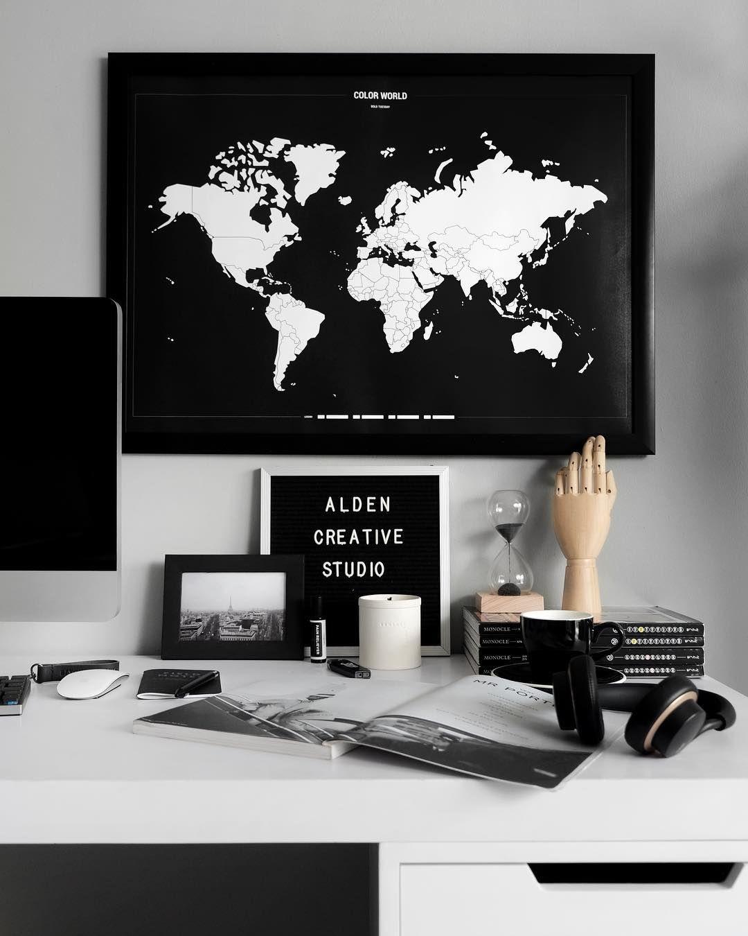 Diy Homeoffice Desk Ideas: White Desk Decor, White Desk