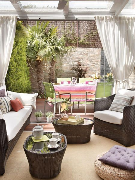 cortinas para terrazas | Ideas para, Pergolas and Mansion