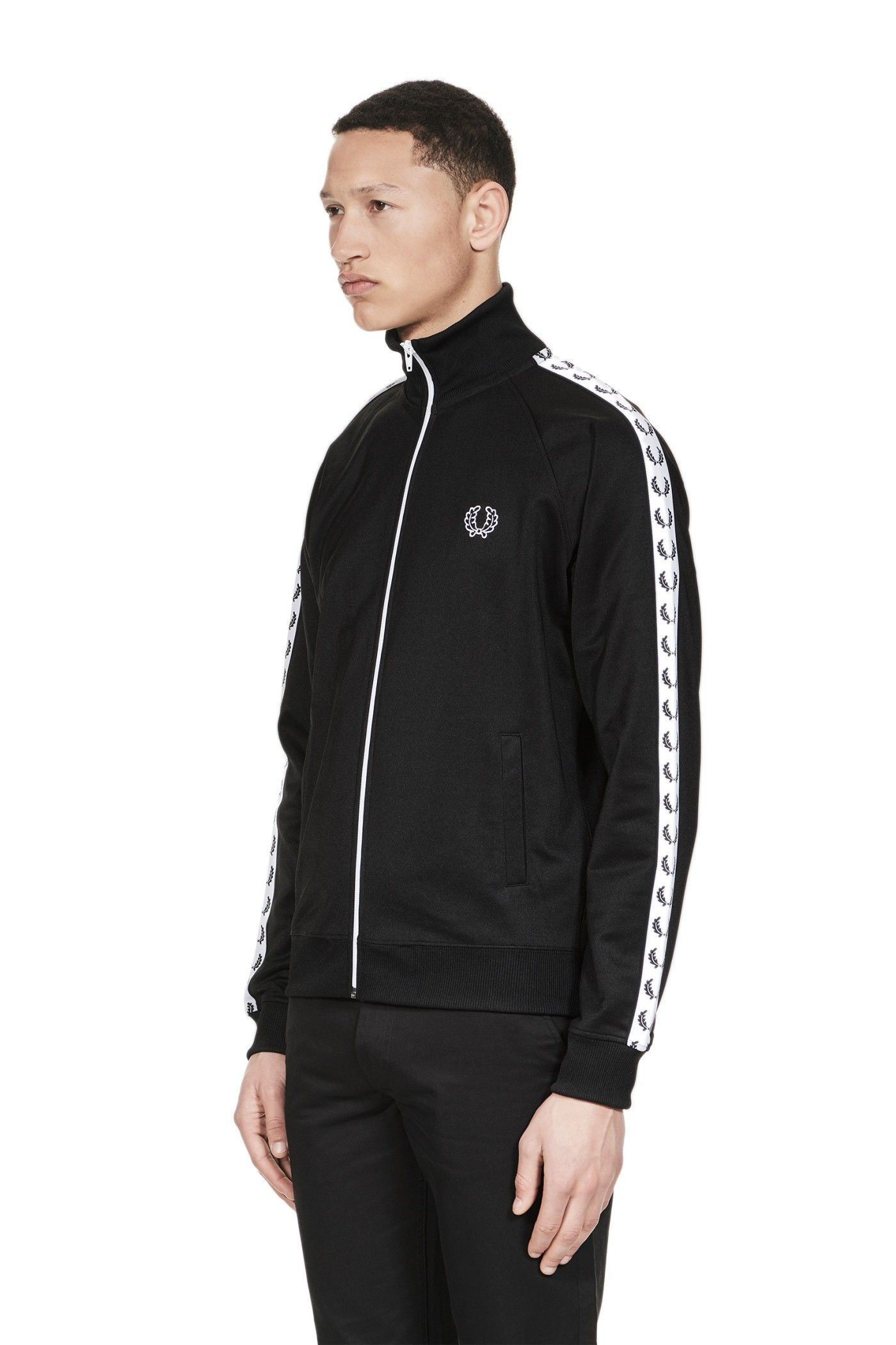 Fred Perry - Sports Authentic Taped Track Jacket Black