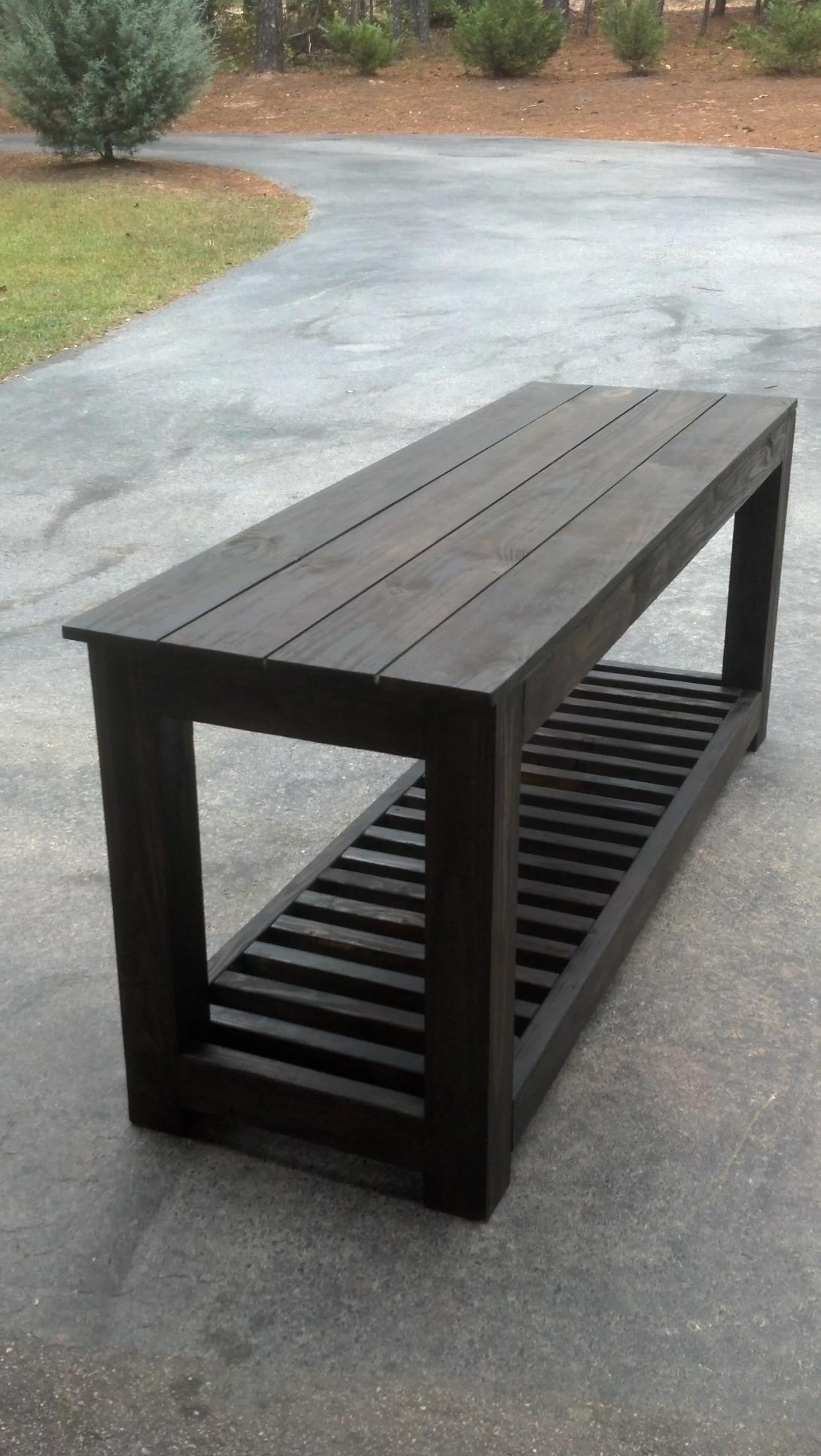 Custom built kitchen island/outdoor prep table