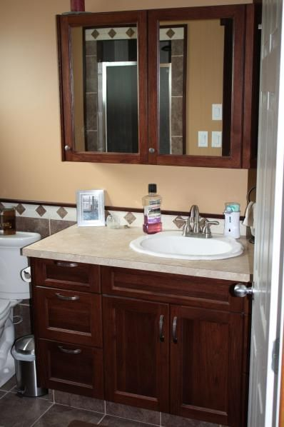 vanities for small bathrooms kelowna bathroom vanities mel tec - Bathroom Cabinets Kelowna