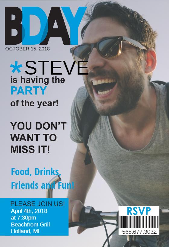 Mens Party Magazine Cover Birthday Invitation Template Free Greetings Island Free Birthday Invitation Templates Birthday Invitation Templates Birthday Invitations