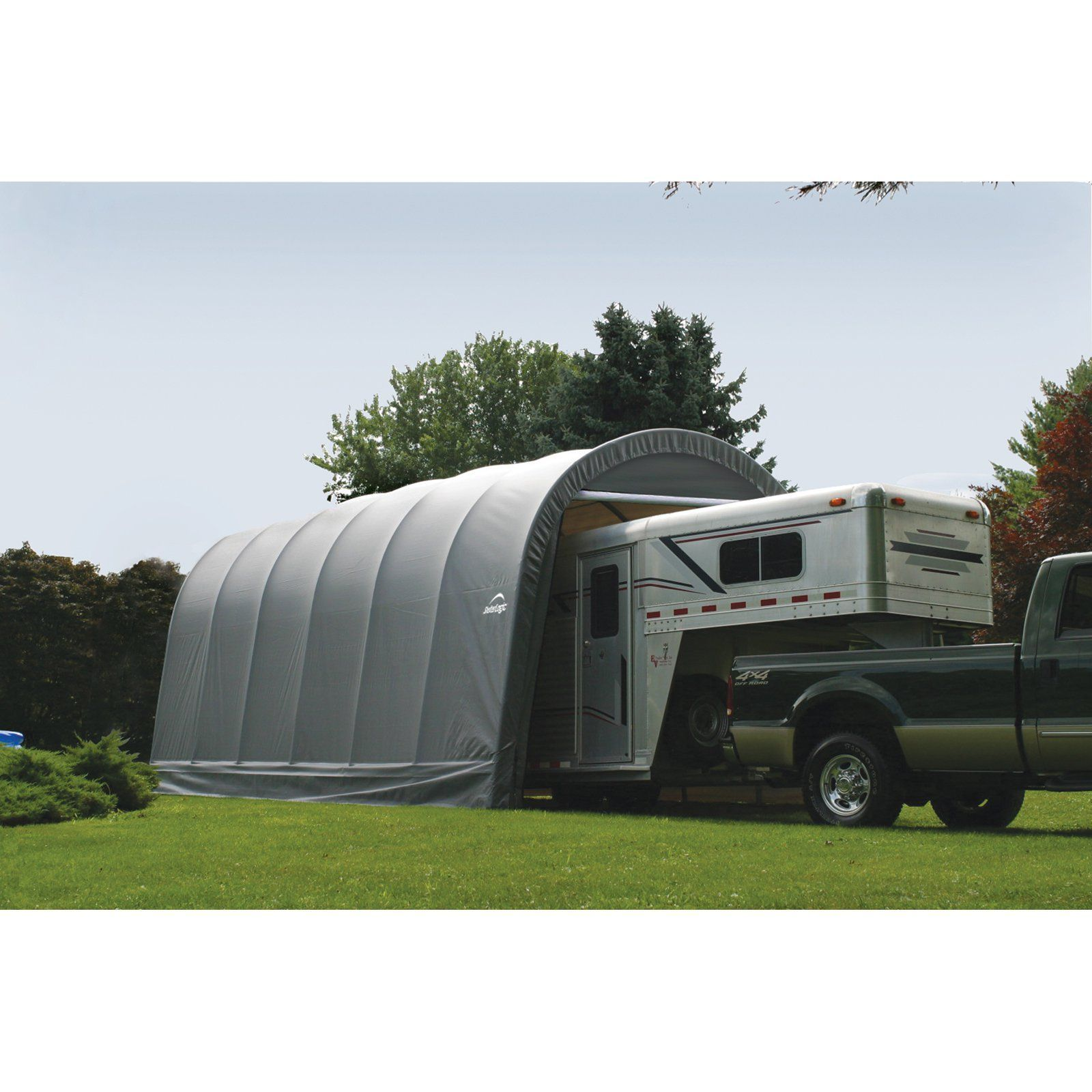 ShelterLogic RoundTop 14 x 20 x 12 ft. Round Frame Garage
