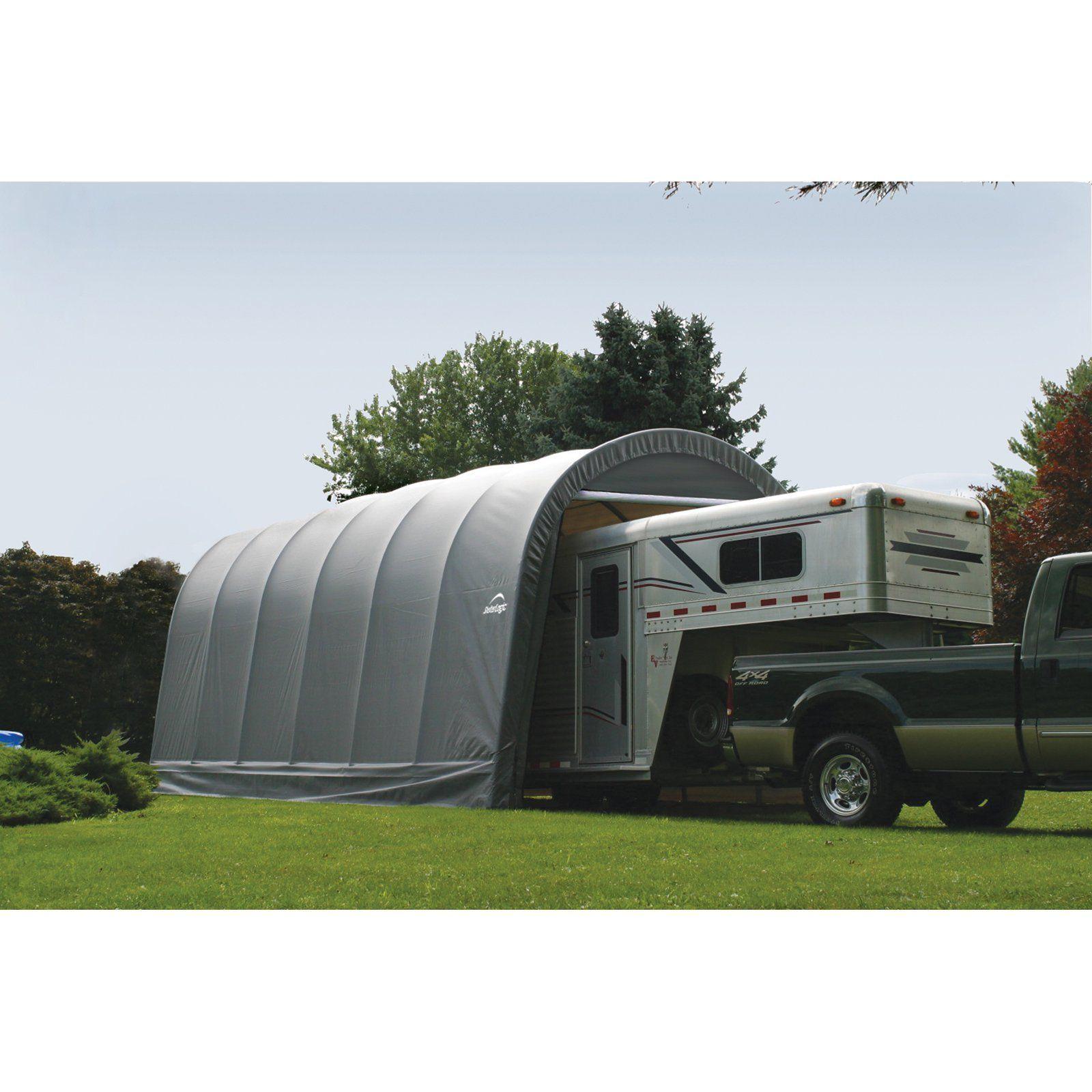 ShelterLogic RoundTop 14 x 20 x 12 ft. Round Frame Garage