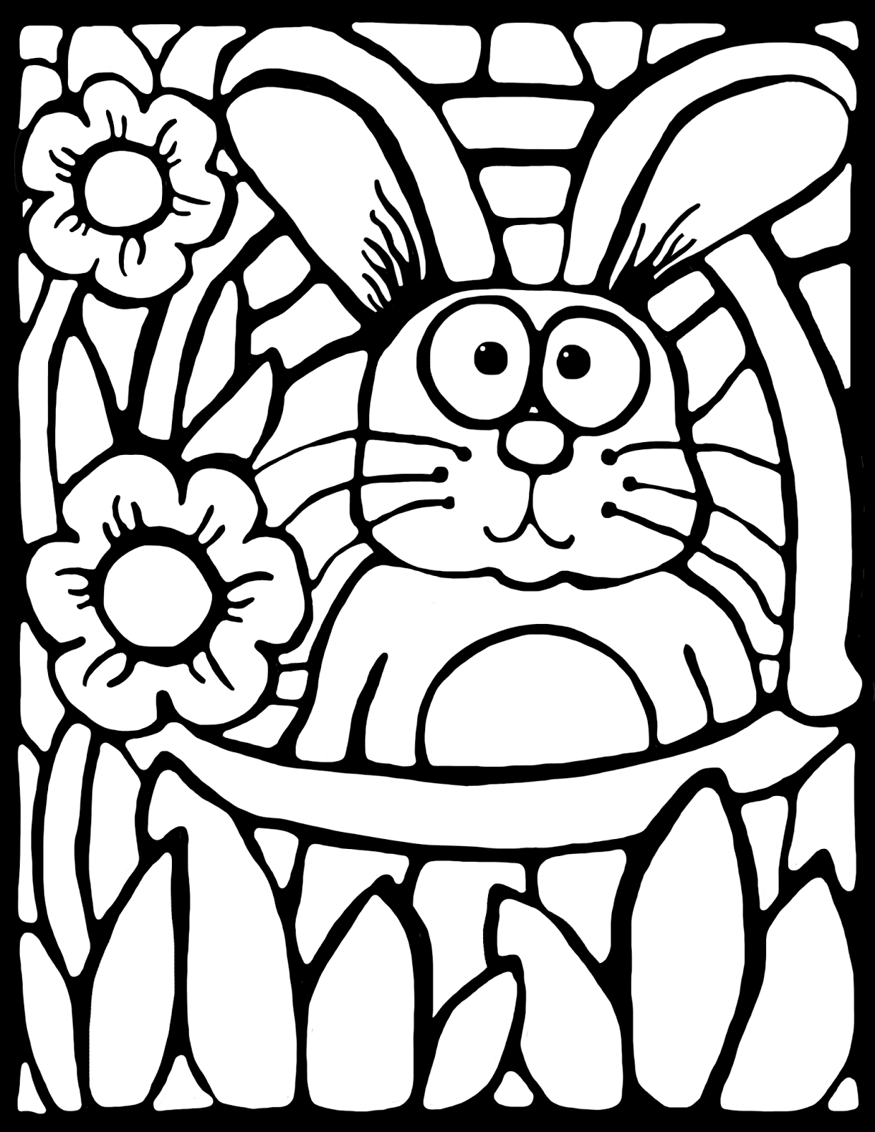 Free Grab This Cute Stained Glass Style Coloring Activity