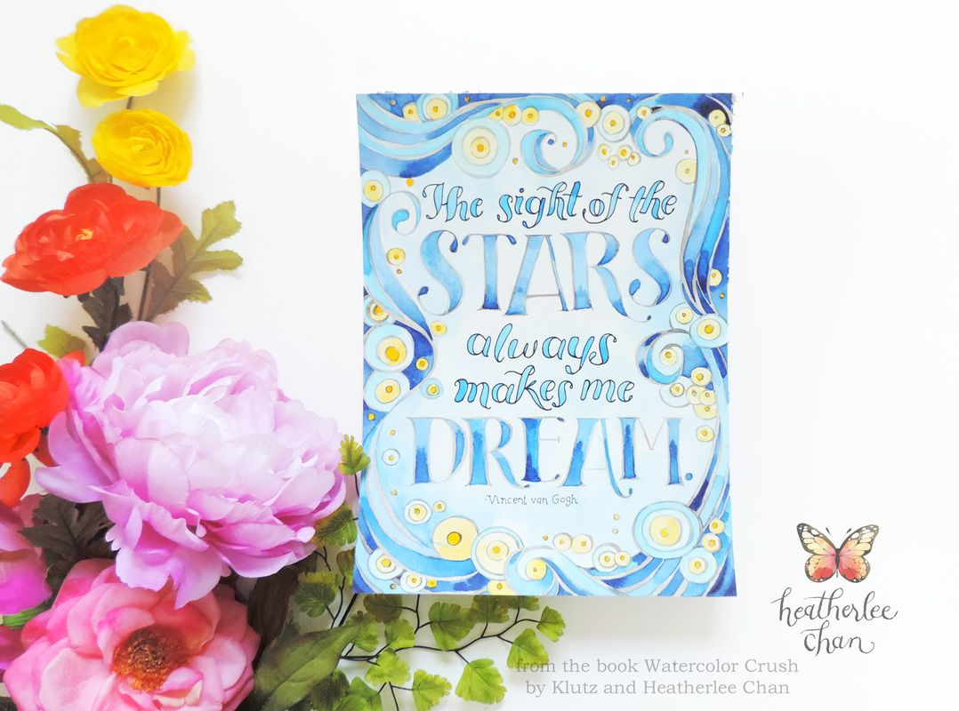 the sight of the stars always makes me dream vincent van gogh watercolor crush van goghcoloring booksthe - Watercolor Coloring Book