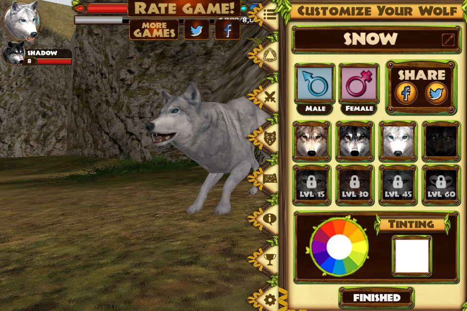 Ultimate Wolf Simulator a game in which is by Gluten Free
