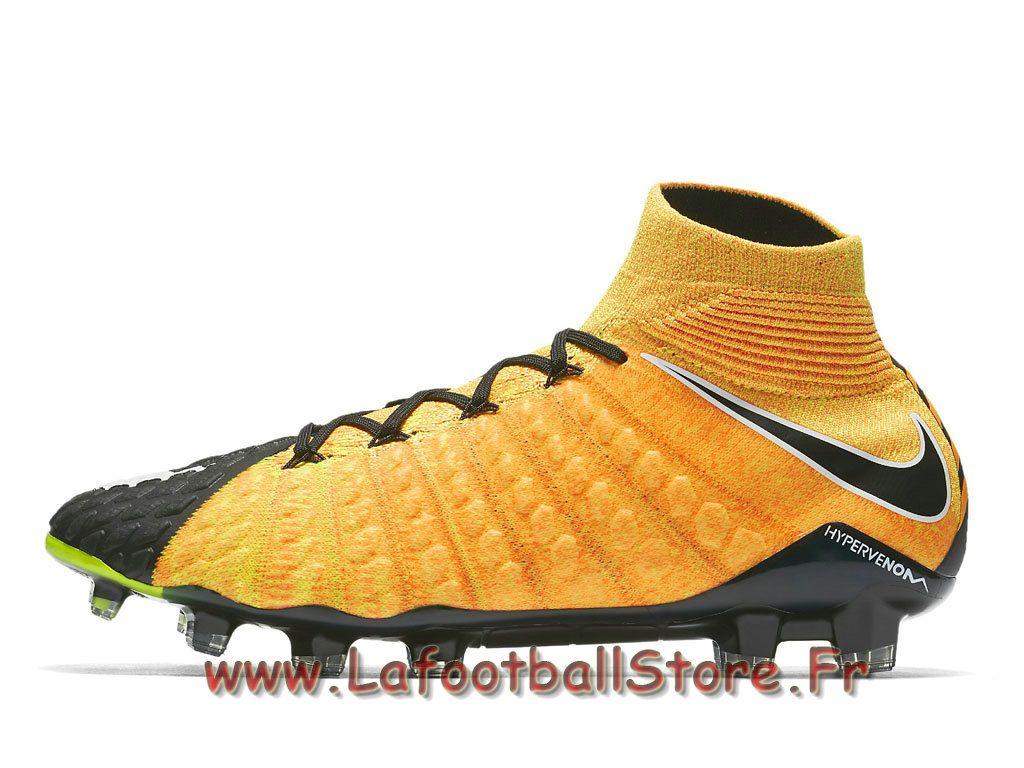 wholesale dealer 7ad95 44d20 Nike Hypervenom Phantom 3 DF FG noires 860643801 Chaussure de football à  crampons pour terrain sec