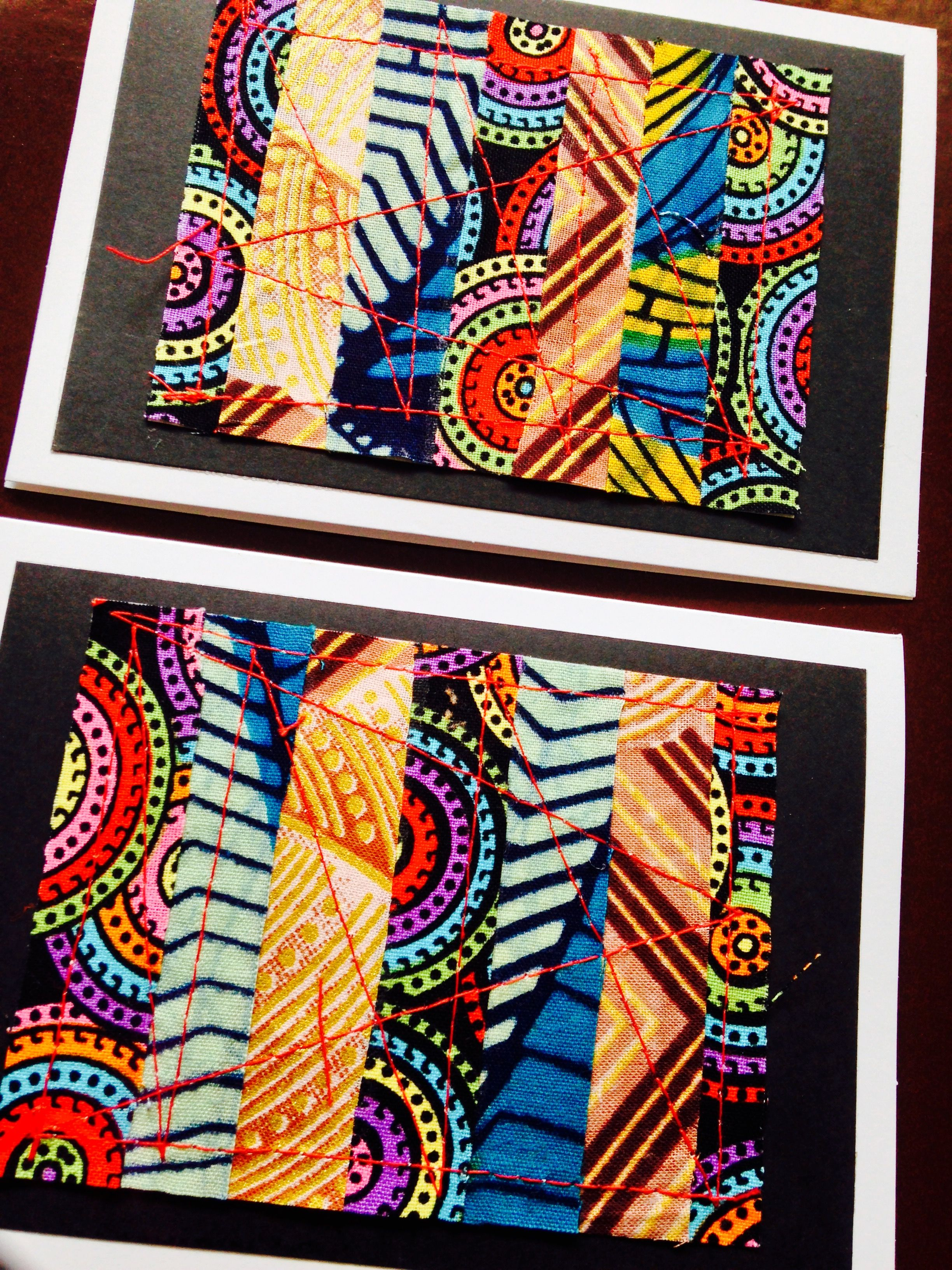 Beautiful patchwork greeting cards using african wax print