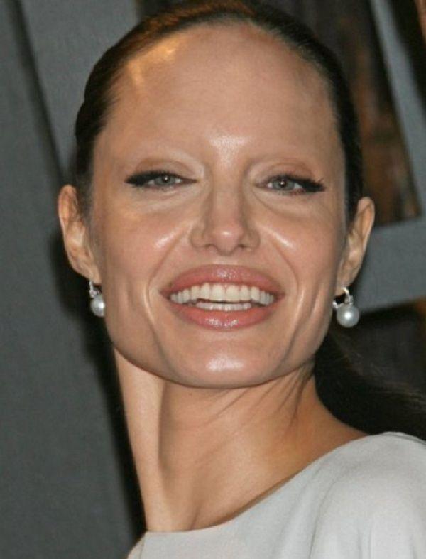 Angelina Jolie Celebrities Without Eyebrows Pinterest Angelina