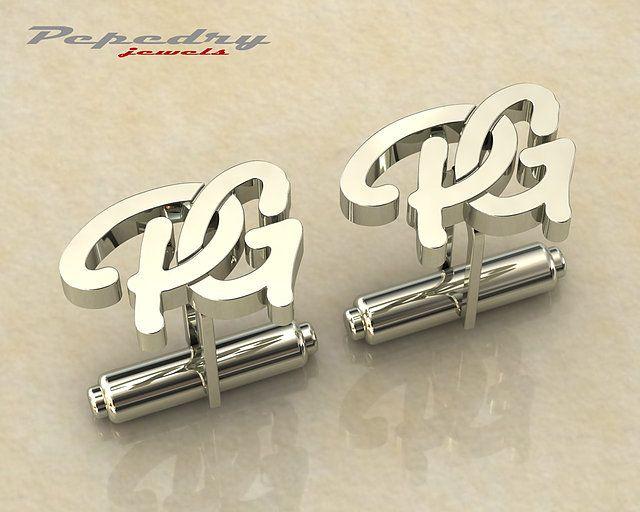 f3d8d9c96fd7 Gemelos personalizados en oro y plata con iniciales