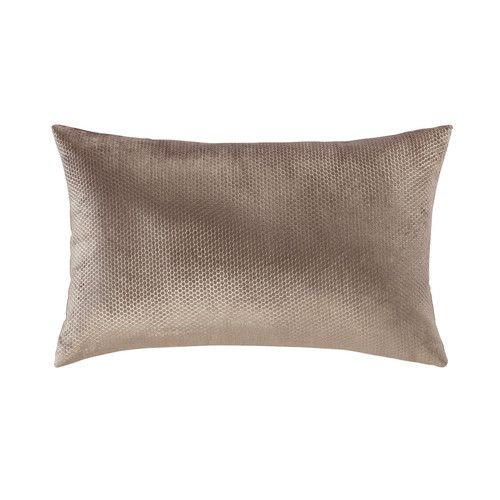Oridore - Coussin en velours taupe 30 x 50 cm Ma chambre cosy