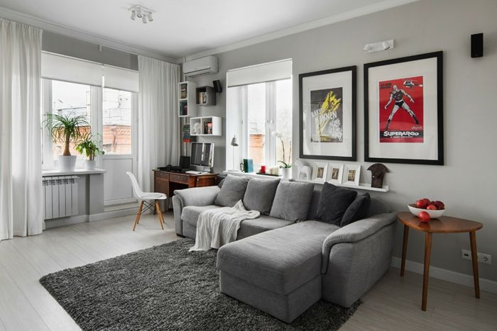 ▷ 1001+ Wohnzimmer Ideen - Die besten Nuancen auswählen - teppich wohnzimmer grau