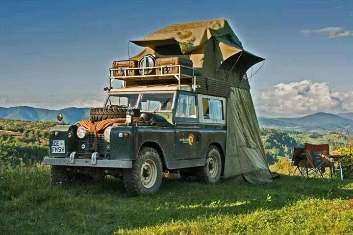 land rover serrie III with roof tent & http://www.thegentlemanracer.com/search/label/Land Rover | Land ...