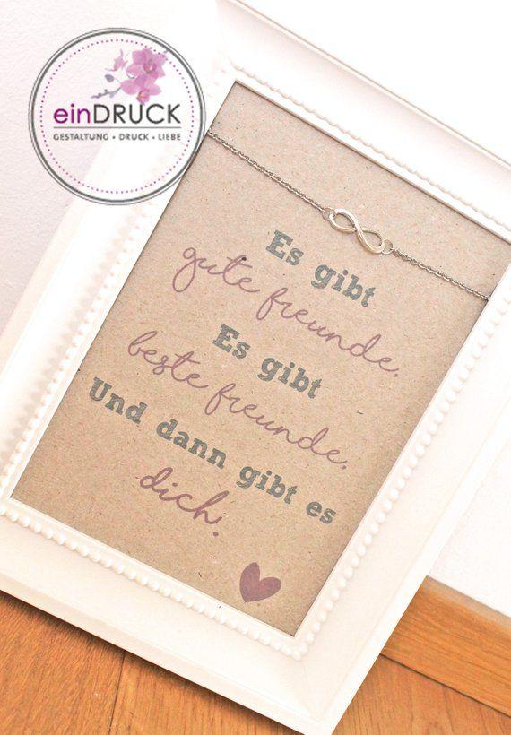 Beste Freundin - Karte+Armkette* Unendlich Armband #geschenkbestefreundin