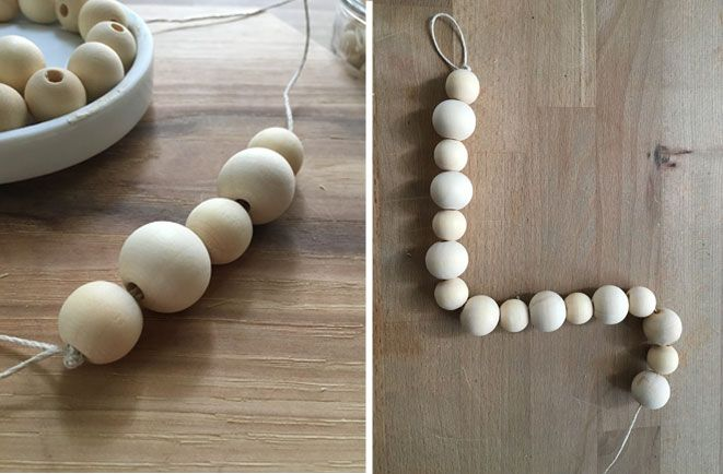 Curtain Panel Tie Back Diy For The Home Using Wooden Beads