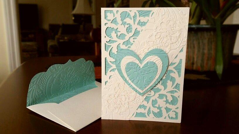 Anniversary card made with anna griffin flourish cricut cartridge