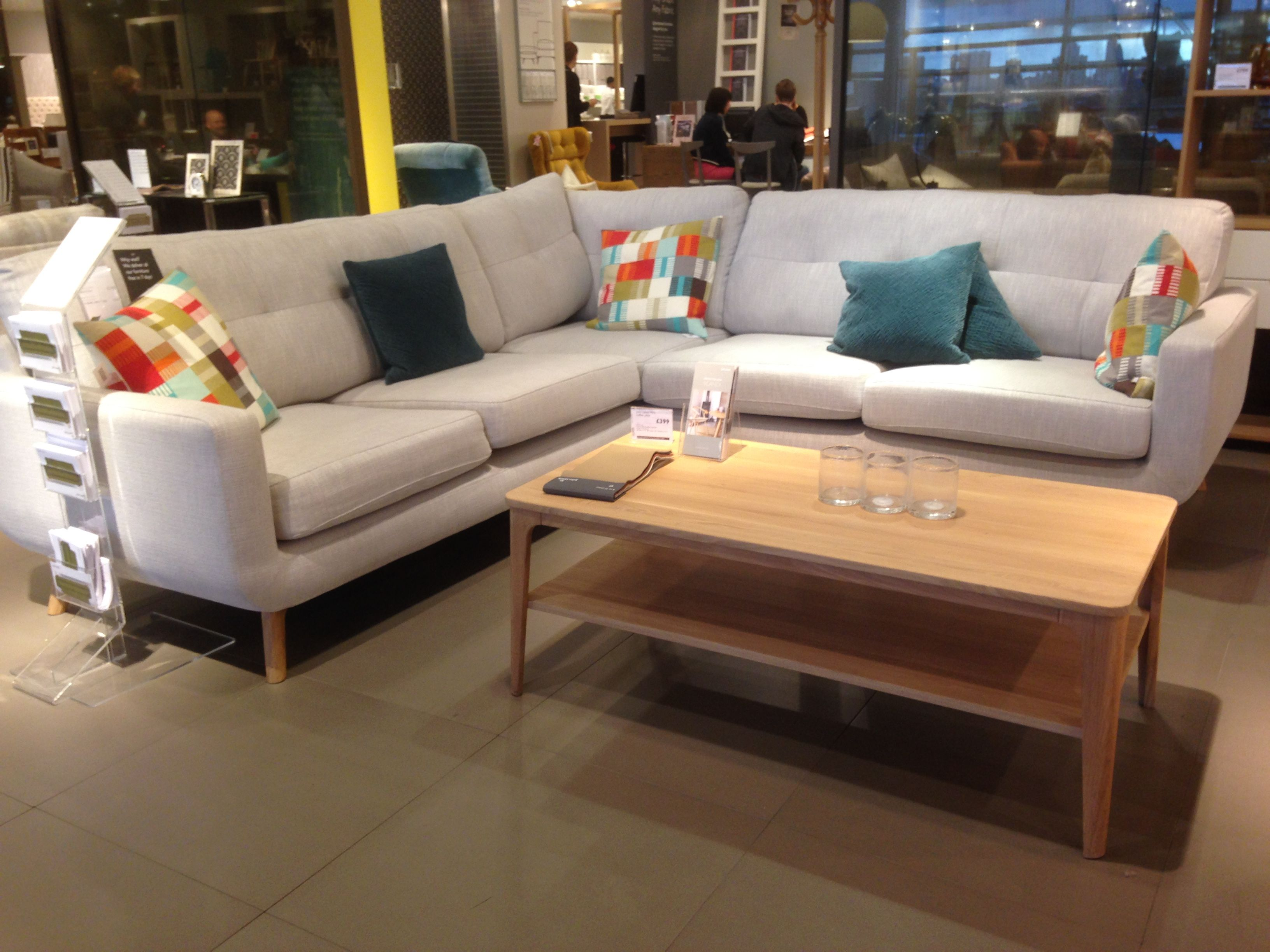 L shaped sofa from John Lewis with my recoil coffee table ...
