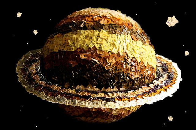 Saturn by Beth Taylor, from the exhibition Breadtag World