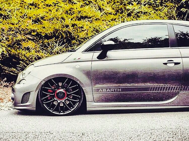 Low Abarth 500 With Images Fiat Abarth Fiat 500 Fiat 500 Pop