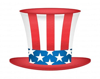 Uncle Sam Hat 4th Of July Clip Art Graphic For Use In Crafts And Design Projects Commercial Use Ok Scalable Clip Art Unique Items Products Design Projects