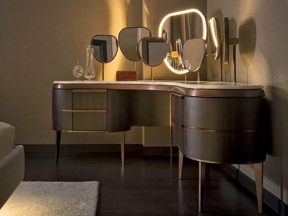 latest 33 modern dressing table designs for luxury. Black Bedroom Furniture Sets. Home Design Ideas
