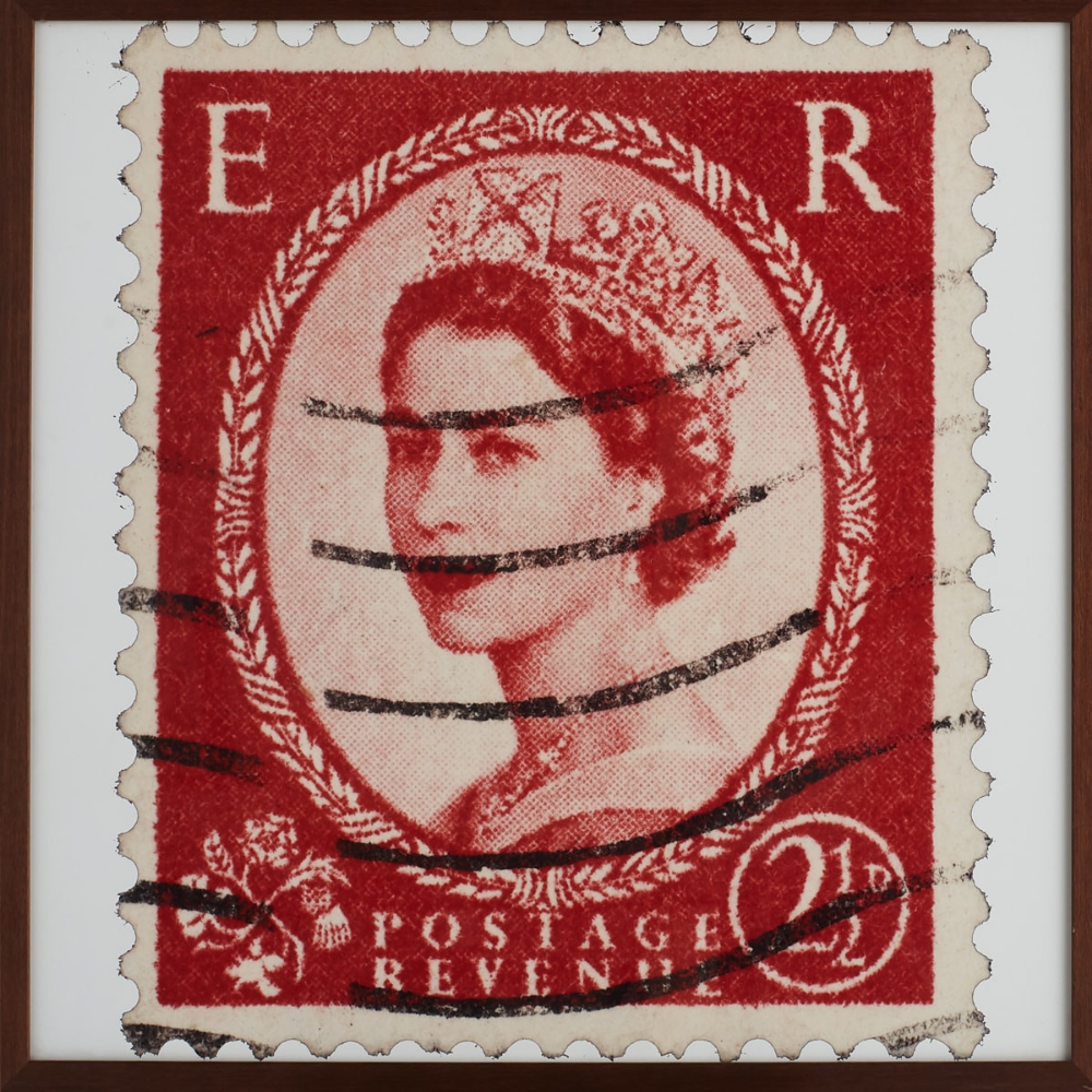 Queen Of England Red Stamp Wall Art Stamp Printing Stamp Art Prints