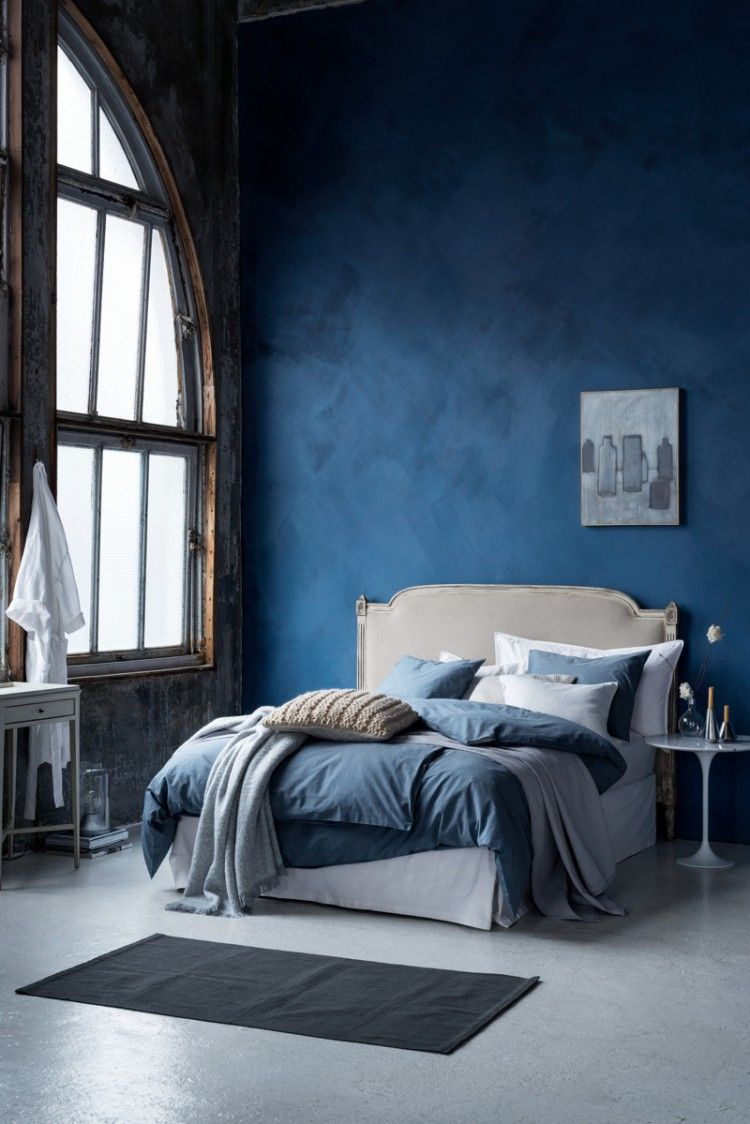 chambre ton bleu | chambres - lits | peinture chambre, chambre bleu