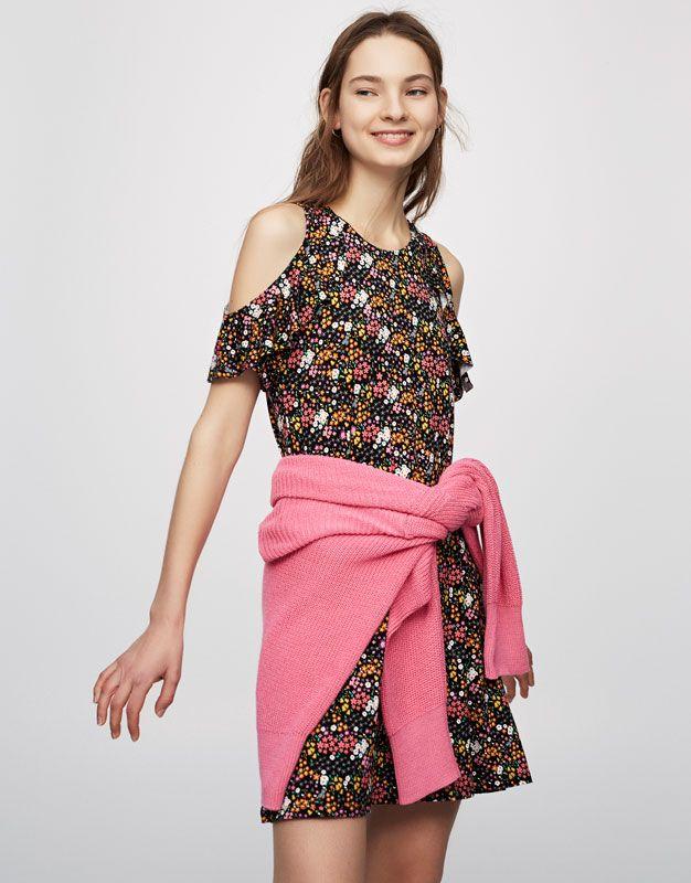 Pull&Bear - mujer - ropa - best sellers ❤ - vestido abertura hombro ...