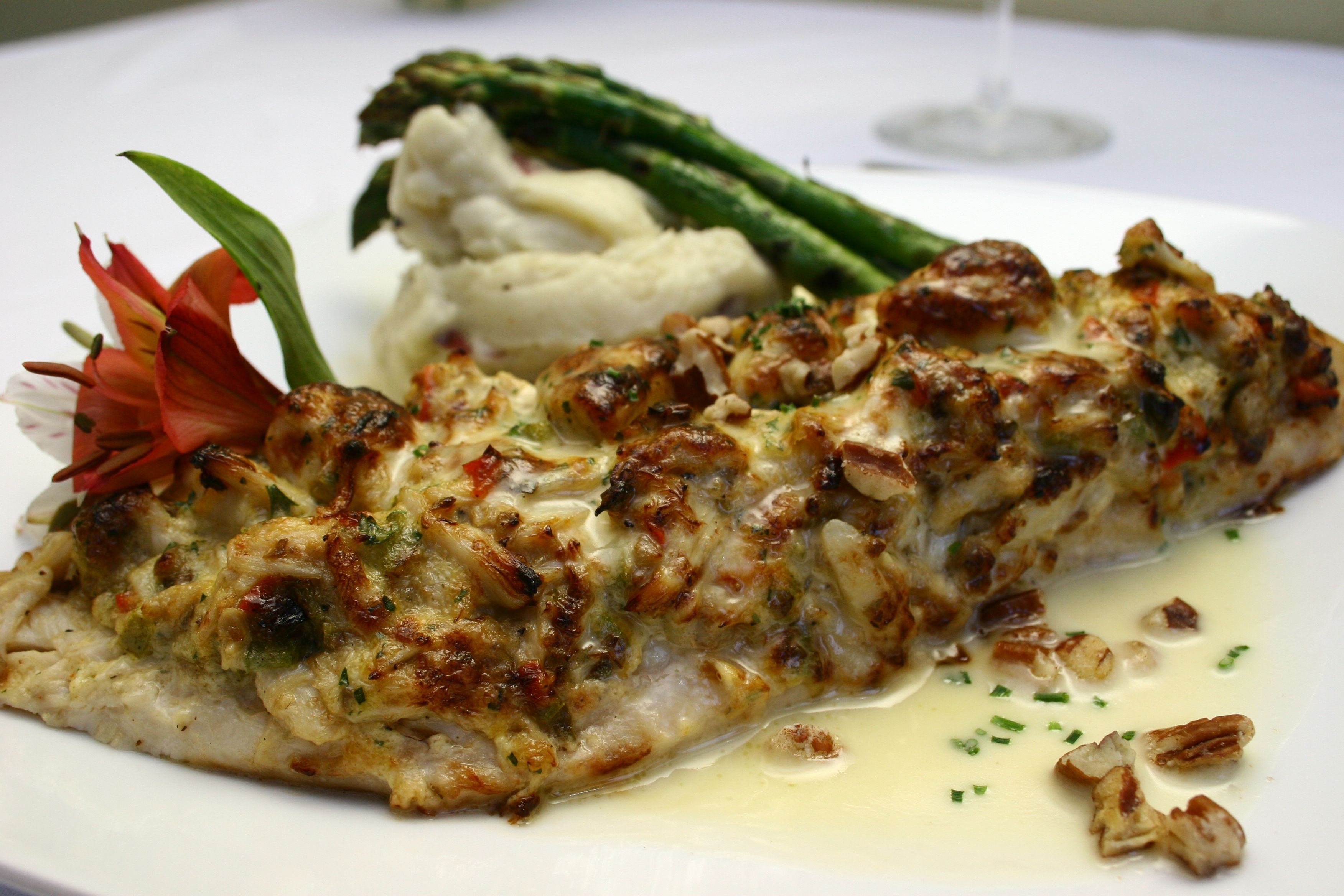 Rockfish topped with Crab imperial | GERTRUDE\'S CLASSICS | Pinterest ...