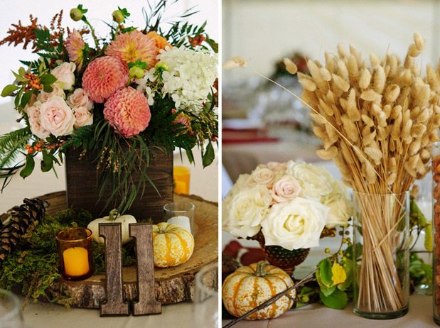 Rustic Autumn Wedding In Maine ~ Floral Designer: Flora Fauna //  Photographer: Michelle