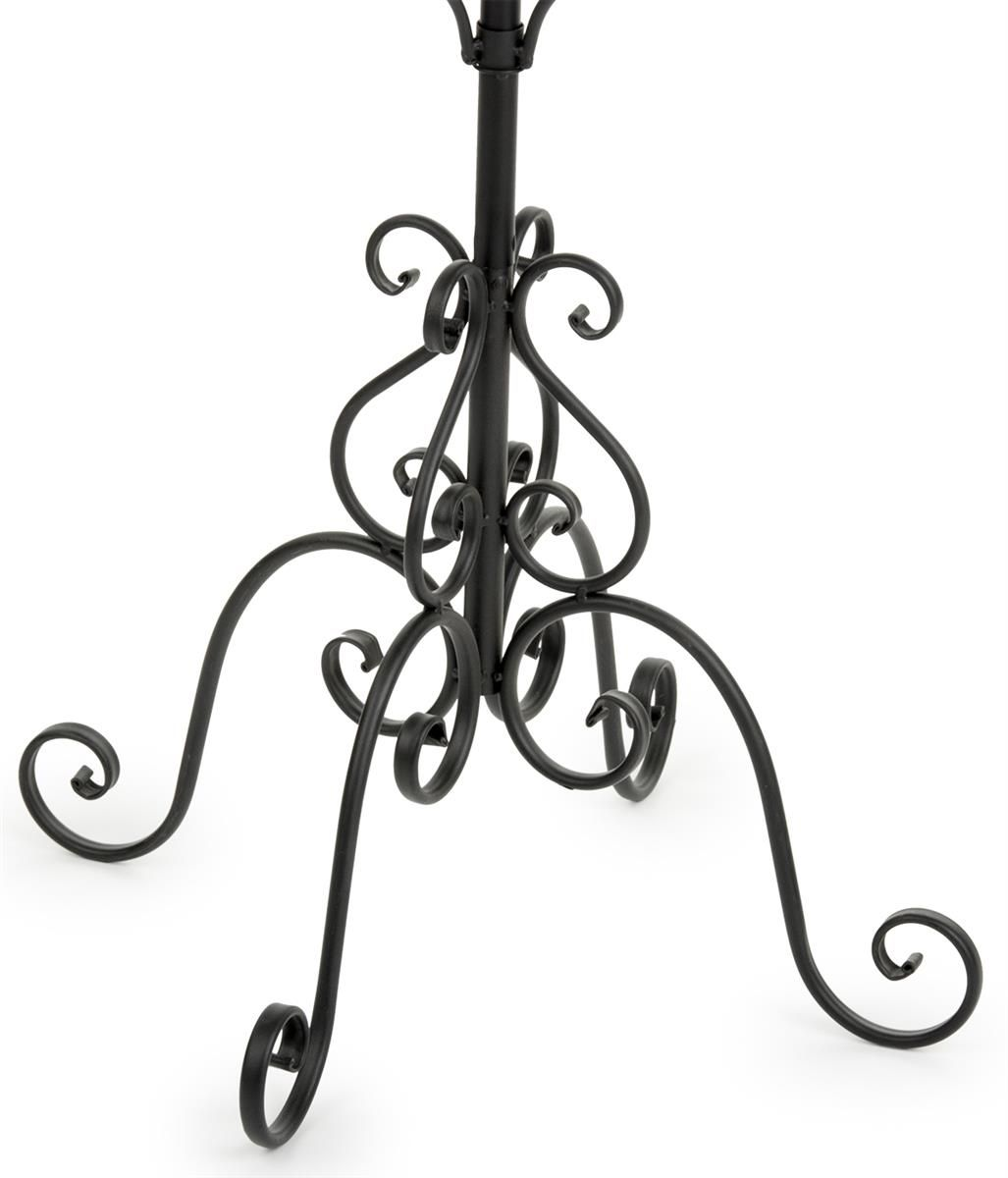 Wrought Iron Coat Rack With Rotating Hooks
