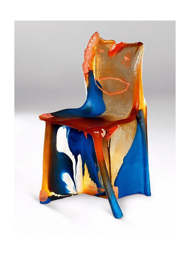 Awesome Gaetano Pesce Pratt Chair 1983 85 Série Différenciée Résine Uréthane Souple  Irrégularité Valorisation Erreur Surprise