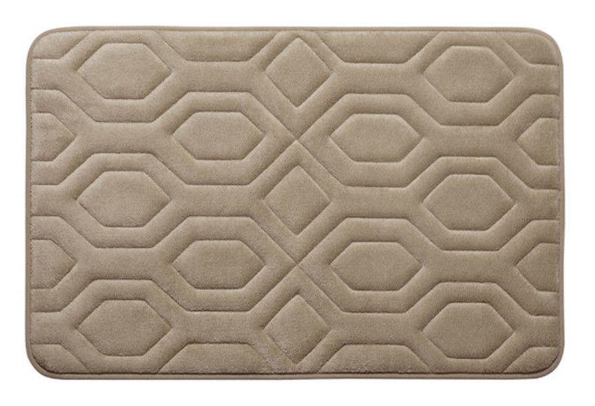 Embossed Diamond Premium Micro Plush Memory Foam Bath Rug Memory