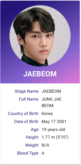I Land Jung Jaebeom Kpop Profiles My Land Kpop Profiles Reality Show