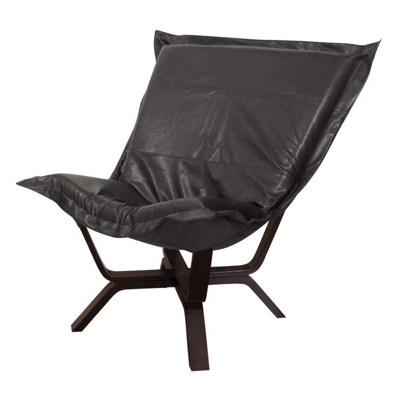 "Howard Elliott Avanti Milan Puff Chair 40"" Tall Polyurethane Upholstered Side Ch"
